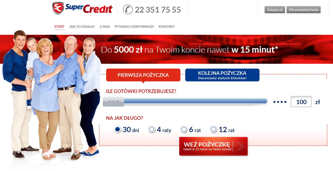 SuperCredit pożyczki